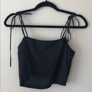 Brandy Melville tie strap tank black